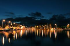 darlowo港口波兰 免版税库存图片