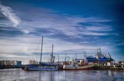 Darlowo-Hafen Stockbild