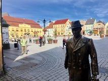 Darlowo, Polen: Het Stadsvierkant Stock Fotografie