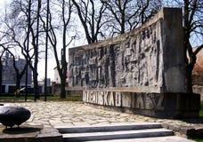 Darlowo Pologne, monument de guerre mondiale d'héritage photo stock