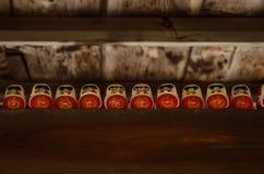 Darma Buddhas line up, Kyoto Japan Royalty Free Stock Image