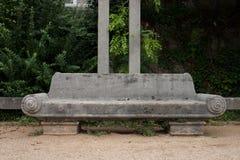 Darmstadt bench Stock Photo