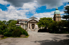 Darmstadt museum of natural history. View of the museum from the front on a summers day stock photo
