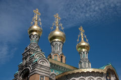 Darmstadt russian church Stock Photography