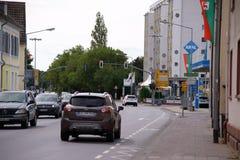 Darmstadt street Dreieich Stock Photography