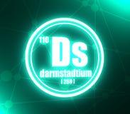 Darmstadtium chemisch element vector illustratie
