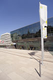 Darmstadtium. Darmstadt, Germany - August 31, 2015: Convention hall and congress center called Darmstadtium, of Darmstadt, Hesse, Germany Stock Images