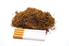 Darning tobacco with cigarets Stock Image