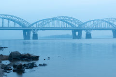 Darnitskiy-Brücke Stockbild