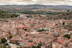 Daroca. Aerial view of the town of Daroca. Spain Stock Photography