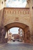 Daroca. Door of the town of Daroca. Spain Stock Photo