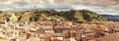 Daroca. Panoramic view of the town of Daroca. Spain Royalty Free Stock Photo