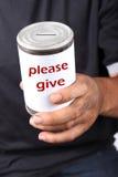 darowizna bezdomny fotografia stock