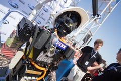 DARPA Robotics Challenge THOR Team with Robot Royalty Free Stock Image