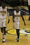 Darren Collison 2 Roy Hibbert 55 Indiana Pacers Royalty Free Stock Image