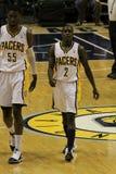 Darren Collison 2 Roy Hibbert 55 Indiana Pacers Royalty Free Stock Image
