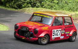 Darren Eaton in the Austin Mini racing Royalty Free Stock Images