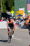 Darren Eklund in the Coeur d' Alene Ironman cycling event Stock Photography