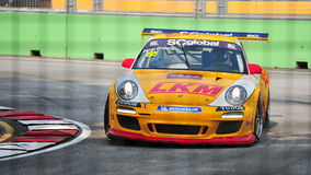 Darryl O'Young racing at Porsche Carrera Cup Asia Stock Photos