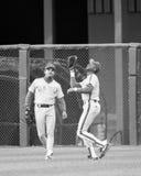 Darryl Strawberry, joueur dans l'extra-champs de New York Mets photo libre de droits