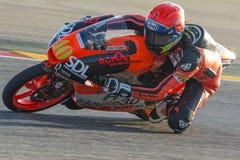 Darryn LIMBINDNING Moto3 Grand prix Movistar av Aragà ³ n Arkivbilder