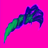 Darsha. Abstract and colorful image of a shape similar to a feather or horn vector illustration