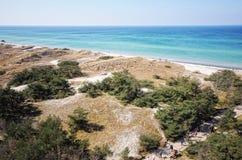 Darsser Ort à la plage de mer baltique sur la péninsule de Darss Image stock