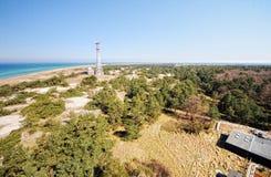 Darsser Ort at Baltic sea beach on Darss peninsula Royalty Free Stock Photography