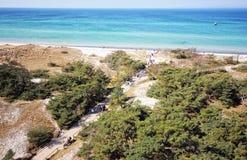 Darsser Ort at Baltic sea beach on Darss peninsula Stock Photography