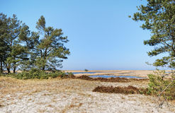 Darsser Ort bij Oostzeestrand op Darss-schiereiland Stock Afbeelding