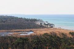 Darsser Ort bij Oostzeestrand op Darss-schiereiland Royalty-vrije Stock Afbeeldingen