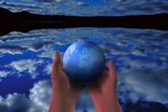 Darstellen der Erde Stockbild