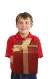 Darstellen eines Geschenks Stockbild