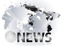 Darstellung der Nachrichten Stockbild