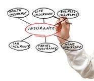 Darstellung der Versicherung Stockfotos