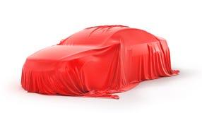 Darstellung des Autos Auto unter dem Stoff Lizenzfreies Stockbild