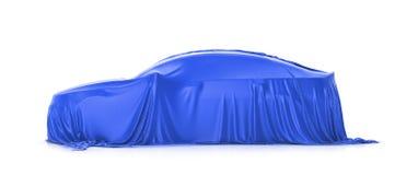 Darstellung des Autos Auto unter dem Stoff Lizenzfreie Stockfotografie
