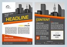 Darstellung des Vektorfliegers, des Firmenkundengeschäftes, des Jahresberichts, des Broschürenentwurfs und der Abdeckung mit oran stock abbildung