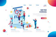 Darstellung für Job Recruiting Eployment Infographic vektor abbildung
