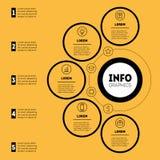 Darstellung Infographic oder des Geschäfts mit 5 Wahlen Zeigerinformation Lizenzfreie Stockfotografie