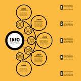 Darstellung Infographic oder des Geschäfts mit 5 Wahlen Zeigerinformation Lizenzfreie Stockbilder