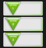 Darstellungsschablone mit drei Textkästen Lizenzfreie Stockfotografie