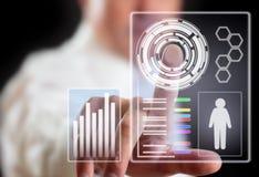Darstellungstechnologie von Zukunft Stockbild