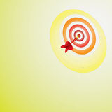 Dart. 3D illustration of a target and dart Royalty Free Stock Photography
