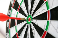 Dart. Direct hit with dart object Royalty Free Stock Photos