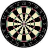 Dart. Realistic dart board over white background vector illustration