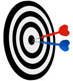 Dart. Arrows on target art stock illustration
