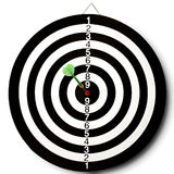 Dart. S target with a  stuck in the center Royalty Free Stock Images