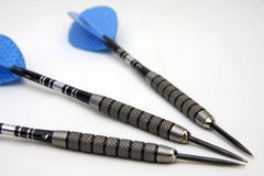 Dart. Three darts in white background Royalty Free Stock Image