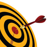 Dart. Vector illustration of a dart target Royalty Free Stock Images
